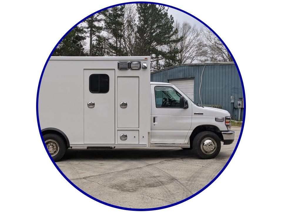 all white ambulance for emergencies