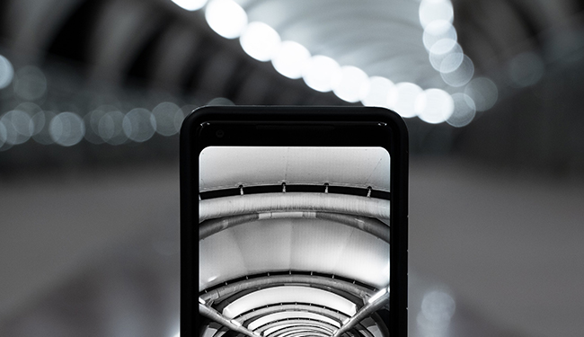 phone showing a picture of an social media marketing agency