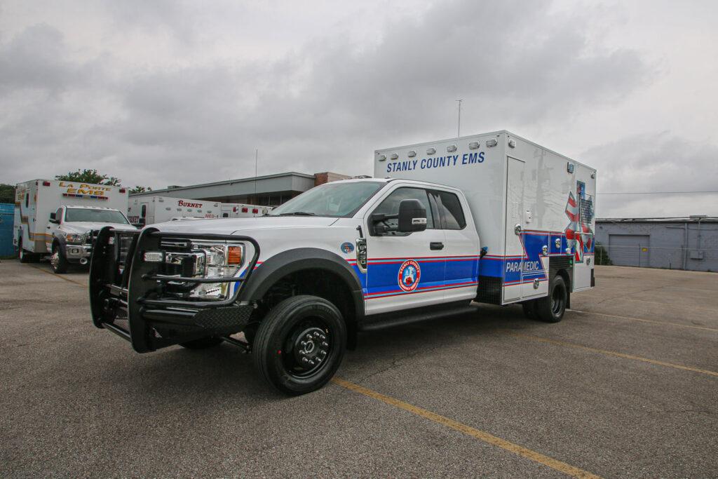 front side profile of a frazer type I ambulance